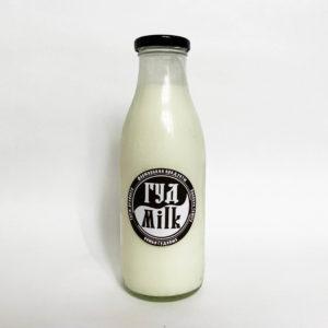 Молоко цельное, стеклянная бутылка 0,5 л